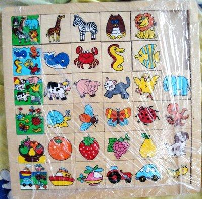 Деревянная игра лото, паззлы, рамка вкладыш Ассоциации BINO
