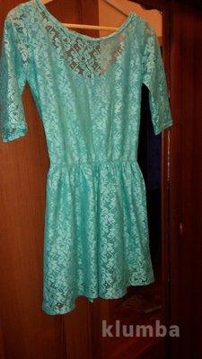 Красивое нежное платье гипюр
