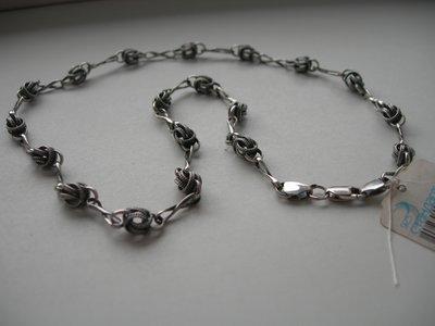 Колье, Орешки, ручное плетение, серебро 925, вес 20,90 гр, новое
