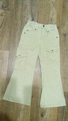 Вельветовые джинсы для девочки, р.104-110