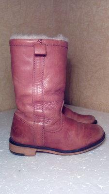 Кожанные сапожки размер 25 стелька 15,5 см фирмы Zara , б/у