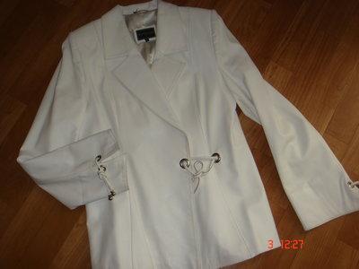 Кожаный пиджак 44-48