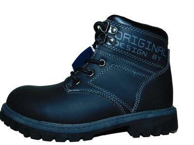 Черные ботинки для мальчика 32-37 р.