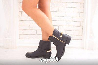 Женские ботинки молния