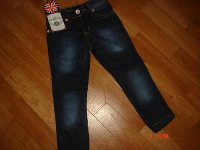 Продано: Брендовые утепленные джинсы девочкам 98