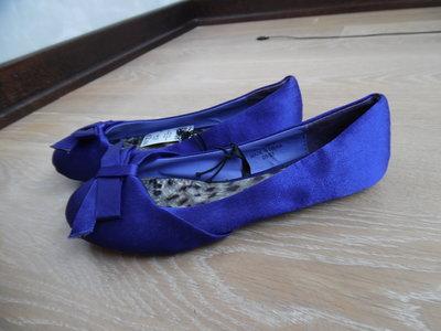 Балеткы девочке тканевые 23 см фиолетовые