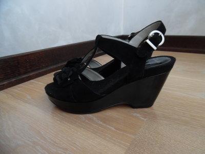 Туфли женские 25 см Clarks Кларкс кожа замш.