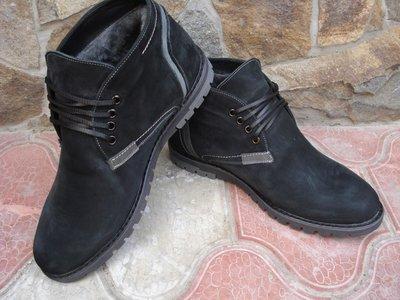 Продано: Ботинки мужские. А-11. натуральный нубук, натуральная цигейка
