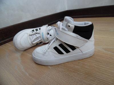 кроссовки 16 см кеды мокасины белые Adidas Адидас