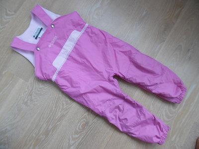 Комбинезон девочке зимний розовый на подтяжках Columbia Коламбия оригинал