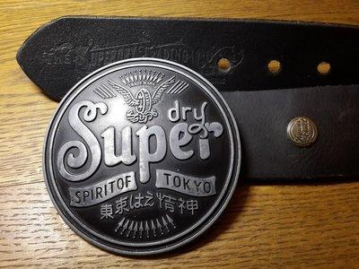 Ремень SUPER DRY 100% Кожа.япония