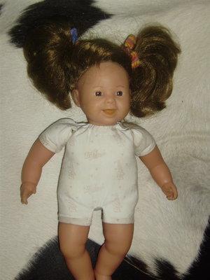 роскошная винтажная очень редкая куколка Jolly dolly Zapf Creation Германия оригинал клеймо 32 см