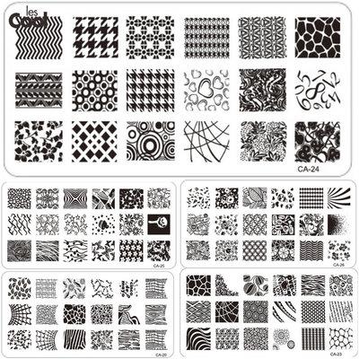 Пластины для стемпинга серии Са , 16 видов