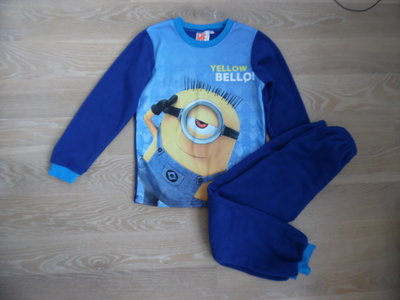 спортивный 10 л 140 см костюм пижама миньйон детский minion новый мальчику дквочке синий голубой