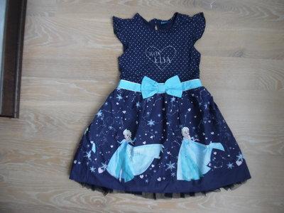 платье 7-8 л детское красивое сетка новое принцесса рапунцель котон Disney Дисней
