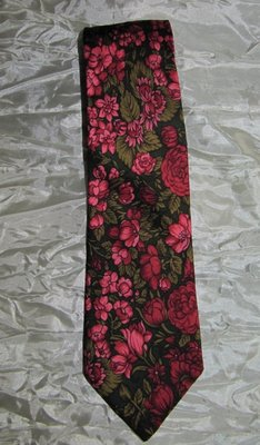 Галстук шелк винтаж цветы St.Michael