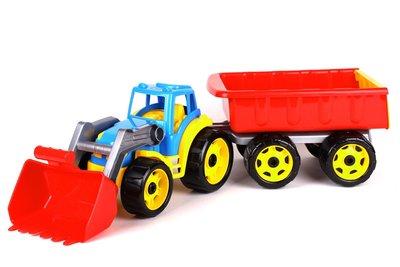 Игрушка Трактор с ковшом и прицепом Технок , арт. 3688