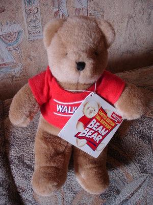 Редкий Лимитированный коллекционный мишка медведь Walkers мягкая игрушка