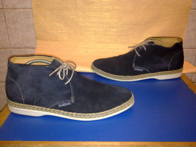 Ботинки RUSSELL&BROMLEY 100%натуральная замша кожа Англия 42р
