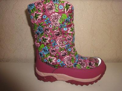 Зимние термо сапоги 24-29 р. на девочку B&G сапожки, ботинки, зима, дівчинку, би-джи