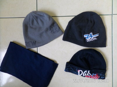Демісезонні шапки та шарфи 3-5 років