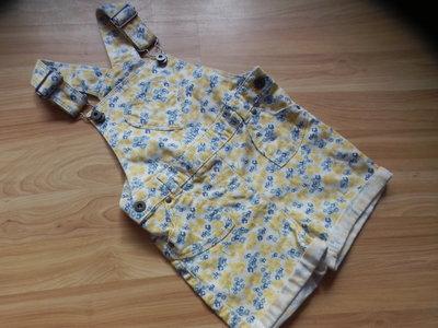 Фирменный джинсовый комбинезон Matalan малышке 1,5-2 года состояние отличное
