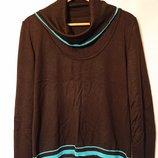 Женский пуловер с воротником-хомутом XL 48-50-52 кардиган свитер кофта