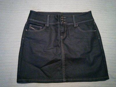 Короткая прямая темно-синяя джинсовая юбка Yes or no. Швейцария. 40 р