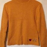Женский шерстяной свитер М-L 44-46-48р джемпер полувер кардиган шерсть