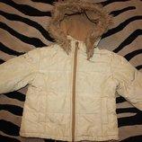 Куртка детская Chicco зимняя, на холодную осень на 3-4 года р 98-104 пух