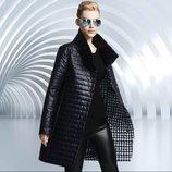 куртка женская теплая SEXI термо пальто парка пуховик элегантная стильная приталенная удлиненная