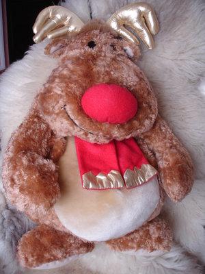 Шикарный Большой олень с сюрпризом мягкая игрушка Новый год Святого Николая