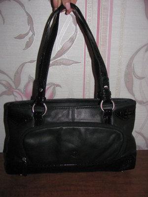 Черная кожаная сумка Ancora
