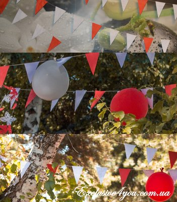 Растяжки-Гирлянды флажки - 23 метра 100 штук