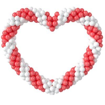 Воздушные шарики маленькие белые 38 шт., красные 28 шт