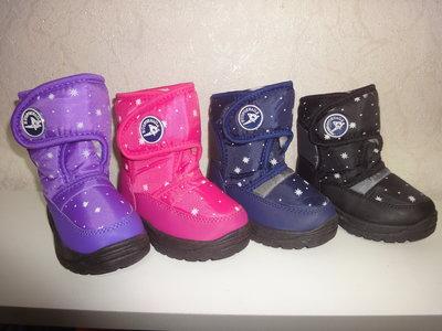 Зимние сапожки 25-30 р. дутики, девочку, мальчика, дутіки, зимові, чоботи, сапоги, ботинки