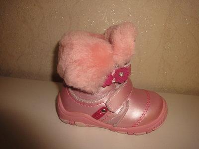 Зимние кожаные ботинки 20,22,23,25 на девочку Scarlett шерсть сапожки, сапоги, зимові, шкіра