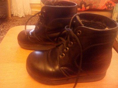 Ботинки ортопедические кожаные чёрные по стельке 17,5см