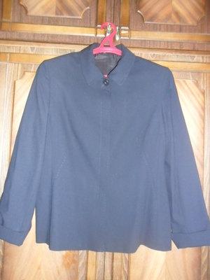 Пиджак темно-синий шерсть Дана бу размер 50-52