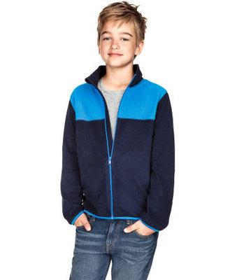 кофта флисовая от H&M для мальчиков синяя