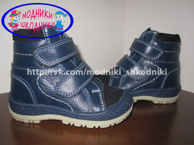 Ботинки кожаные на мальчика Берегиня арт. 2714 р. 21-25 шкіряні демісезонні