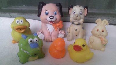Лот резиновых игрушек для купания детям в ванну
