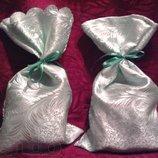 Мешочки для детских подарков на Новый год из ткани