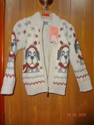 Теплая кофточка на молнии, новая, свитер, джемпер, реглан. Турция