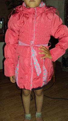 Детское демисезонное пальто, куртку для девочки, размер 110