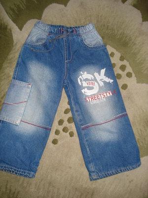 Джинсовые штаны на флисе для мальчика
