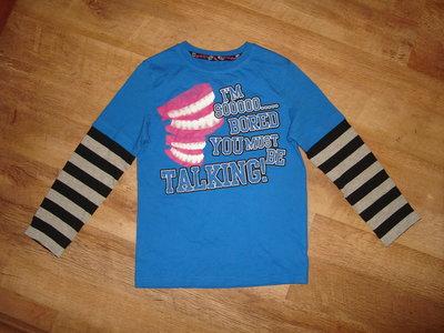 Реглан, футболка с длинным рукавом на 7-8 лет MS в идеале , 100 % котон длина 51 см, ширина 36 см, р