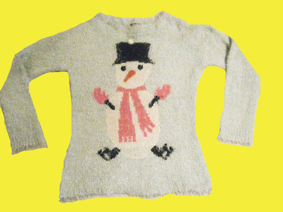 Новогодний свитер -травка со снеговиком,размер 14,South