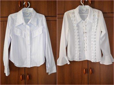 две блузки для школы на рост 128-134