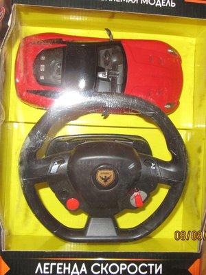 Продано: Гоночная машина с рулем пультом на аккамуляторе
